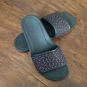 Crocs Jeweled Slides Sandals